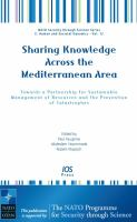 Cover image for Sharing knowledge across the Mediterranean area : towards a partnership for sustainable management of resources and the prevention of catastrophes