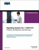 Cover image for Signaling System No. 7 (SS7/C7) : protocol, architecture, and services