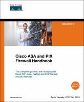 Cover image for Cisco ASA and PIX firewall handbook