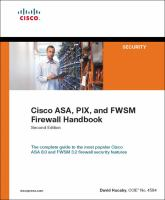 Cover image for Cisco ASA, PIX and FWSM firewall handbook