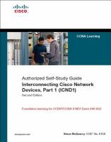 Cover image for Authorized self-study guide : interconnecting Cisco network devices