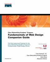 Cover image for Cisco Networking Academy Program : fundamentals of Web design companion guide