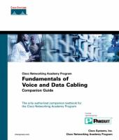 Cover image for Cisco Networking Academy Program fundamentals of voice and data cabling companion guide