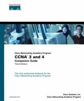 Cover image for Cisco Networking Academy Program CCNA 3 and 4 companion guide