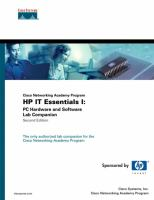 Cover image for Cisco networking academy program HP IT essentials I : PC hardware and software lab companion