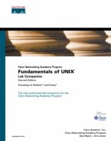 Cover image for Cisco Networking Academy Program : fundamentals of UNIX lab companion : focusing on Solaris and Linux
