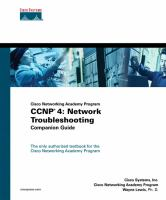 Cover image for CCNP 4 : network troubleshooting companion guide