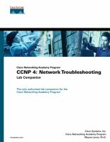 Cover image for Cisco Networking Academy Program : CCNP 4, network troubleshooting lab companion