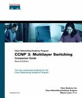 Cover image for CCNP 3 : multilayer switching companion guide