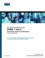 Cover image for Cisco networking academy program :  CNA 1 and 2 engineering journal and workbook