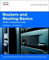 Cover image for Routers and routing basics : CCNA 2 companion guide