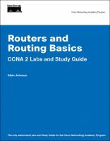 Cover image for Routers and routing basics : CCNA 2 labs and study guide