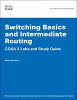 Cover image for Switching basics and intermediate routing : CNA 3 labs and study guide
