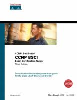Cover image for CCNP BSCI exam certification guide CCNP self-study
