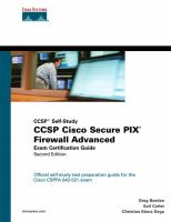 Cover image for CCSP Cisco secure PIX Firewall advanced exam certification guide
