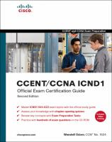 Cover image for CCENT/CCNA ICND1 official exam certificatiion guide