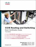 Cover image for CCIE routing and switching exam certification guide