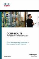 Cover image for CCNP ROUTE portable command guide