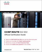 Cover image for CCNP Route 642-902 : official certification guide
