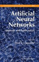 Cover image for Artificial neural networks : methods and applications