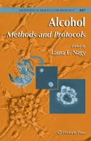 Cover image for Alcohol : methods and protocols