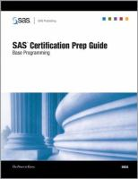 Cover image for SAS certification prep guide : base programming