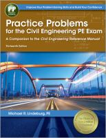 Cover image for Practice problems for the civil engineering PE exam : a companion to the civil engineering reference manual
