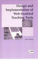 Cover image for Design and implementation of web-enabled teaching tools
