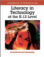 Cover image for Handbook of research on literacy in technology at the K-12 level