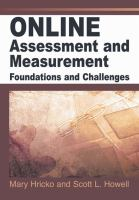 Cover image for Online assessment and measurement : foundations and challenges