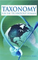Cover image for Taxonomy for the technology domain