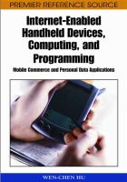 Cover image for Internet-enabled handheld devices, computing, and programming : mobile commerce and personal data applications