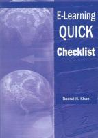 Cover image for E-learning QUICK checklist