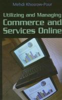 Cover image for Utilizing and managing commerce and services online