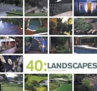 Cover image for 40 : landscapes