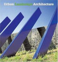 Cover image for Urban landscape architecture