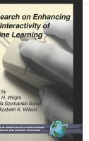 Cover image for Research on enhancing the interactivity of online learning