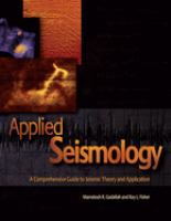 Cover image for Applied seismology : a comprehensive guide to seismic theory and application
