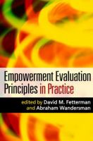 Cover image for Empowerment evaluation principles in practice
