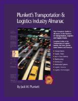Cover image for Plunkett's transportation, supply chain and logistics industry almanac 2008 the only comprehensive guide to the business of transportation, supply chain and logistics management