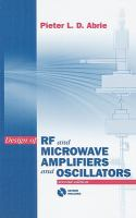 Cover image for Design of RF and microwave amplifiers and oscillators