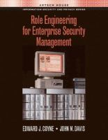 Cover image for Role engineering for enterprise security management