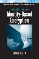Cover image for Introduction to identity-based encryption