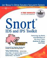 Cover image for Snort : IDS and IPS toolkit