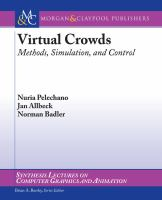 Cover image for Virtual crowds : methods, simulation, and control