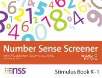 Cover image for Number sense screener (NSS) : stimulus book, K-1