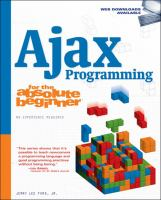 Cover image for Ajax programming for the absolute beginner