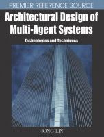 Cover image for Architectural design of multi-agent systems : technologies and techniques