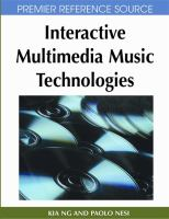 Cover image for Interactive multimedia music technologies