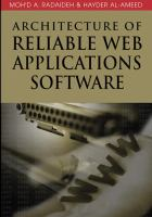 Cover image for Architecture of reliable web applications software